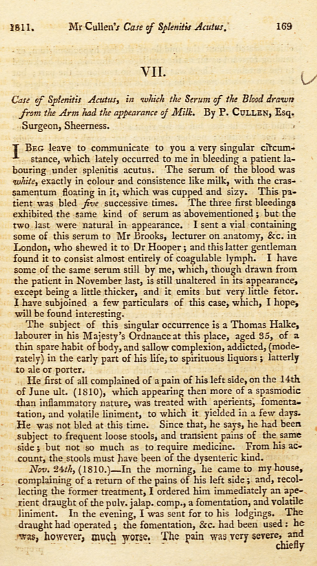 First page of the Cullen article