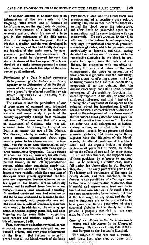 First page of Fuller and Cantab