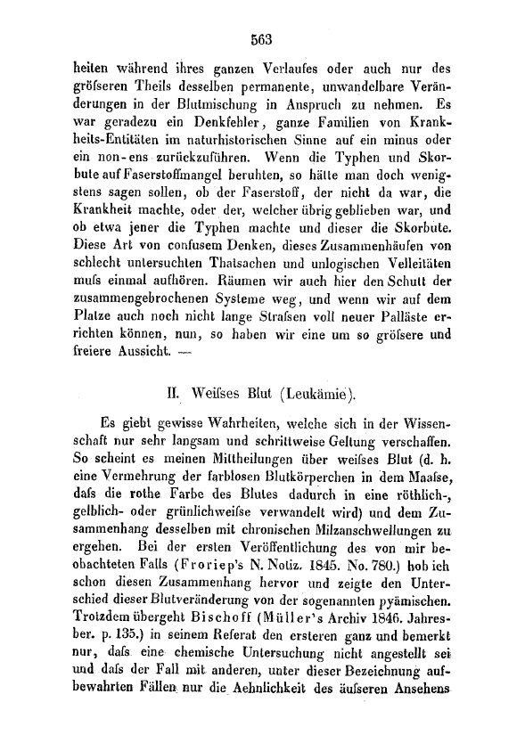 First page of Weisses Blut (Leukämie).